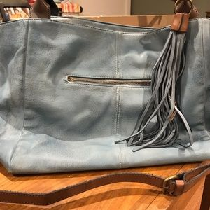 Free People Moda Luxe teal/blue hobo bag